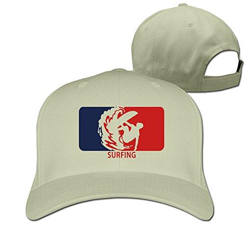 - Bali Surfing Wave Logo Natural Adjustable Baseball Hats For Man Woman