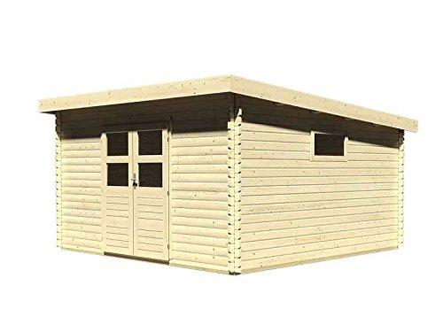 Karibu Woodfeeling Gartenhaus Torgau 6 38 mm Blockbohle