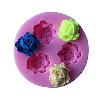 Módulo Tres Chocolate Chocolate silicona Flor Molde molde pudding de gelatina de silicona líquida