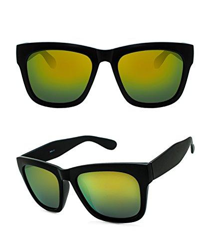 Unisex Polarized UV Protection Oversize Square Frame Fashion Style Sunglasses ( black , - Hut Sungalss