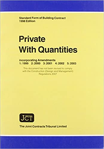 Jct Standard Form Of Building Contract Private With Quantities