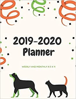 2020 Year In Review.2019 2020 Planner Weekly And Monthly 8 5 X 11 Animal Lover