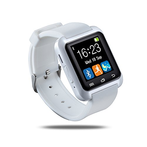 Smartwatch Luxury U8 Bluetooth Smart Watch WristWatch Phone with Camera Touch Screen for IOS Iphone Android Smartphone Samsung Smartphone (White)