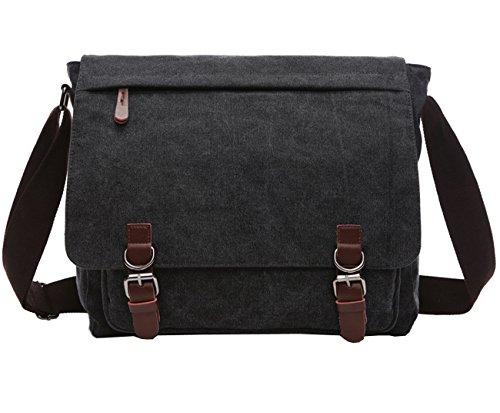 Berchirly Casual Canvas Messenger Cross Bag Travel Daypack M