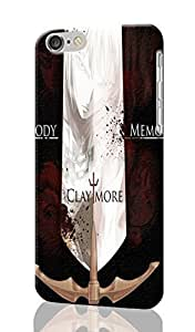 Claymore Pattern Image - Protective 3d Rough Case Cover - Hard Plastic 3D Case - For iPhone 6 Plus- 5.5
