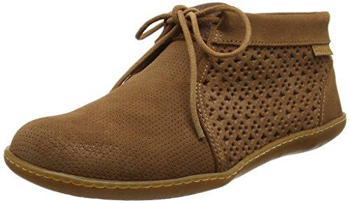El Naturalista Ne09 Lux Suede El Viajero, Zapatos de Cordones Brogue para Mujer Marrón (Wood)