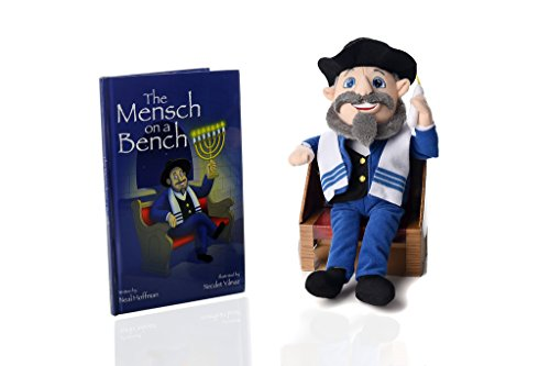 Mensch on a Bench The As Seen on Shark Tank Hanukkah Decor with Hardcover Book and Removable Bench