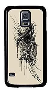 Hard Snap On Case with Abstract Painting Intense Chasing Printed Back Protective Case Cover for Samsung Galaxy S5