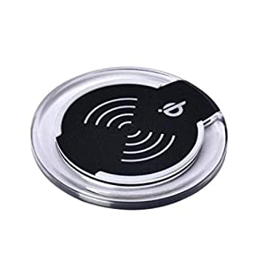 Qi Wireless Charger Charging Pad For iPhone 8/iPhone 8 Plus/Samsung Galaxy S8,Tuscom, 6CMx10CM,>75% (Black)