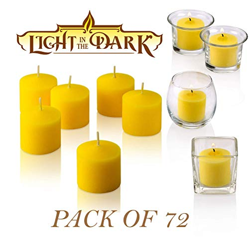 Votive Citronella Candle - Pack of 72 - High Scented Citronella Candles – Mosquito, Bug Repellent for Outdoor/Indoor Use - 10 Hour Burn Time - Made in USA