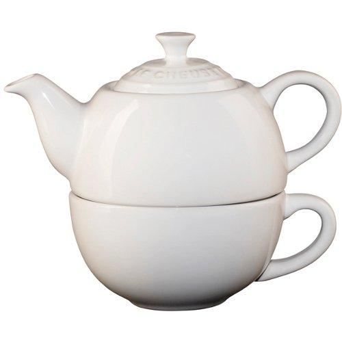 Stoneware Tea Set Color: White