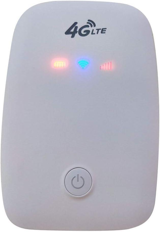 LYXMY 4G Router Inalámbrico, Portátil Coche Móvil Wi-Fi Hotspot Inalámbrico Dongle WiFi Router con 8 Horas Larga Duración Batería, 150M Transmisión Velocidad - Blanco, Gratis Talla: Amazon.es: Hogar