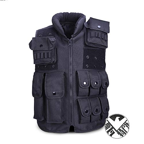 Eleven Outdoor Kids Tactical Vest Adjustable Children Waistcoat Combat Training Gilet (Size : 衣长60厘米空白贴一付) by Eleven-cn