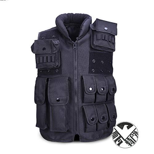 Eleven Outdoor Kids Tactical Vest Adjustable Children Waistcoat Combat Training Gilet (Size : 衣长60厘米空白贴一付) by Eleven-cn