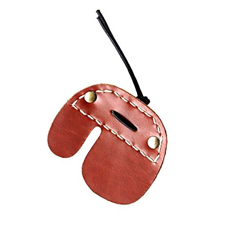 Best-selling Brown Cowskin Finger Tabs Hunting Bow Handmade Archery Finger Protector (Right Hand)