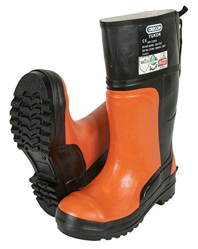 Oregon Yukon Bottes de sécurité en caoutchouc Protection contre tronçonneuse, 295385/45