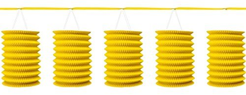 Accordion Style Paper Lantern Garlands | Sunshine Yellow | Party Decor -
