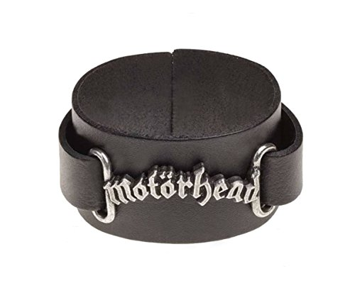 Motorhead Wristband Classic Band Logo Official Alchemy Black Leather Buckle
