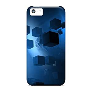 Case Cover Protector For Iphone 5c Cubes Abstract Case