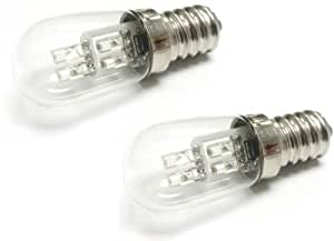 S6 2-Pack LED Night Light Bulb 8 Lumen 0.36W (5W) 2900K E12 Base