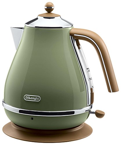 Delonghi Electric kettle (1.0L)「ICONA Vintage Collection」 KBOV1200J-GR (Olive green)【Japan Domestic genuine products】 by DeLonghi