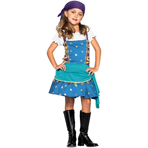 GSG Gypsy Princess Costume Kids Fortune Teller Fancy Dress Halloween Fancy Dress (Elf Princess Costume Kit)