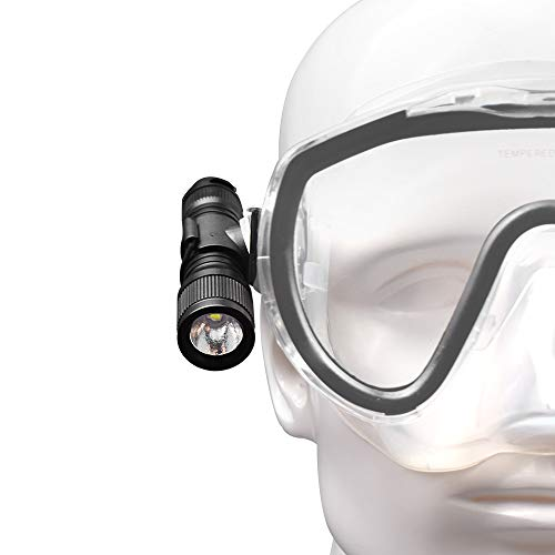 ORCATORCH Latest D560 Mini Scuba Dive Light 630 Lumens Rotary Switch Underwater Torch 360 Degree Rotatable Mask Clip, Backup batteries, Wrist lanyard, O-rings by ORCATORCH