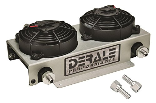 Racing Oil Kit Cooler - Derale 13740 Hyper Dual-Cool Remote Cooler