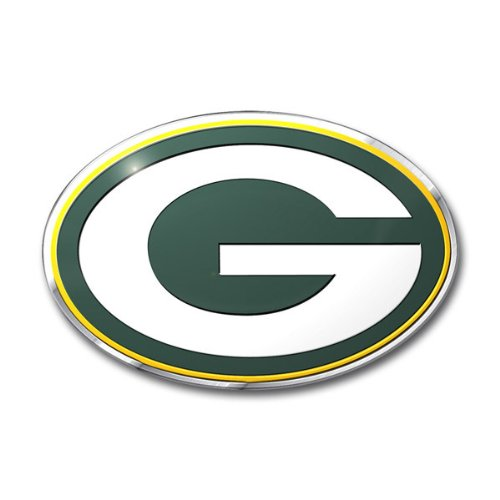 Green Bay Packers Colored Aluminum Car Auto (Green Bay Packers Auto Emblem)