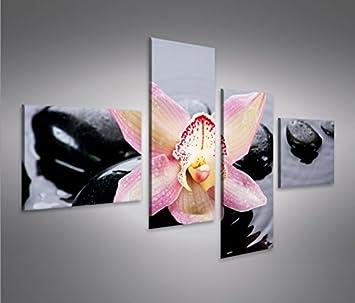 Wasser Zen 1P Bild auf Leinwand Wandbild Poster Kunstdruck