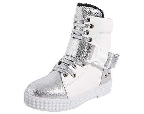 Short Cold Cotton Lined Waterproof Fashion Winter White Weather Snow Pointss Fur Boot Boot Sneaker Girls Boot Rivets Trip 4n0wCUxZ6q