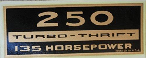 CHEVROLET 250 TURBO-THRIFT 135 HP VALVE COVER DECAL 2pc SET - STICKER - HORSEPOWER ()