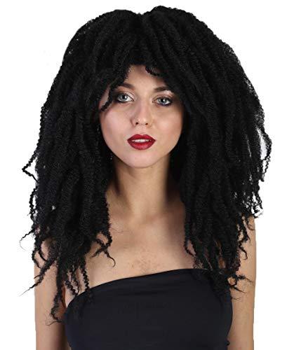 Halloween Party Online Long Dreadlock Wig, Womens Black Adult -