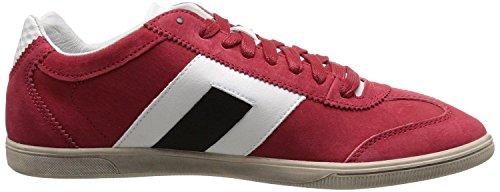 Diesel Happy Hour Vintage Lounge Rojo Negro Suede Hombres Trainers Zapatos
