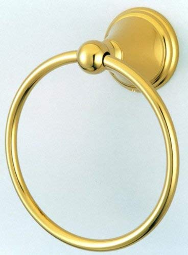 Kingston Towel Ring (Kingston Brass BA2974PB Governor 6-Inch Towel Ring, Polished Brass)
