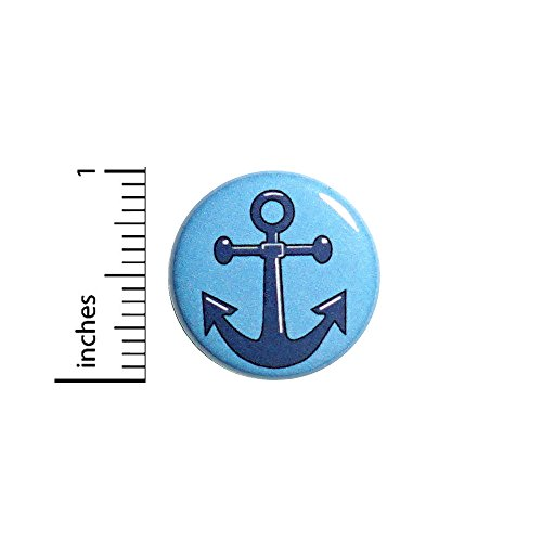 Anchor Button Pin Rockabilly American Traditional Tattoo Style Pinback 1