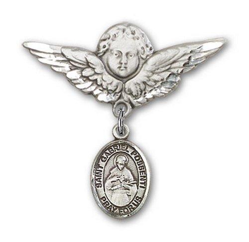 Icecarats Créatrice De Bijoux En Argent Sterling St. Gabriel Possenti Charme Ange Broche De Badge 1 1/8 X 1 1/8