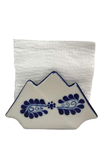 kin Holder - Authentic Hand Painted Mexican Pottery - Mexican Home Decor - Classic White ()