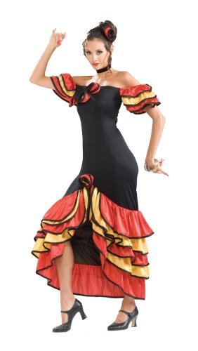 Forum Novelties Women's Spanish Lady Costume, Multicolor, Standard (Ladies Costume)