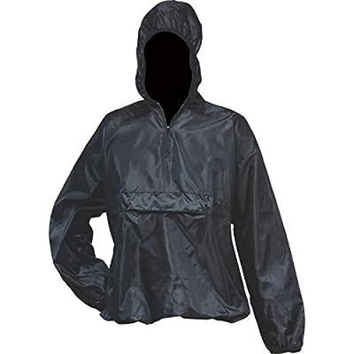 All-WeatherTM Pull-Over Black Rain Jacket - GFRNJB - Size Medium