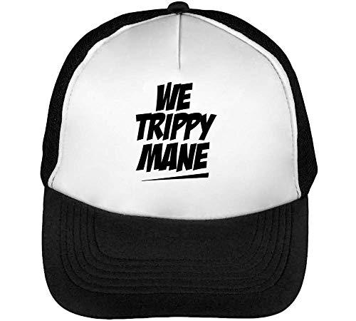 Hombre Beisbol Snapback Fonted Trippy Black Negro We Blanco Gorras Mane YxBU0qywX