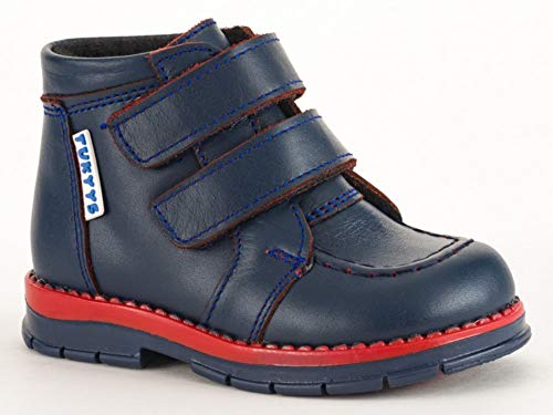 Image of Tukyys Shoes for Boys/Girls Leather Waterproof Boots with Orthopedic Insole Wool Lining (Toddler) (Genuine Leather, US-7 EU-23)
