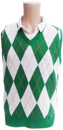 Ireland Argyle Sweater Vest, (Argyle Embroidered Cap)