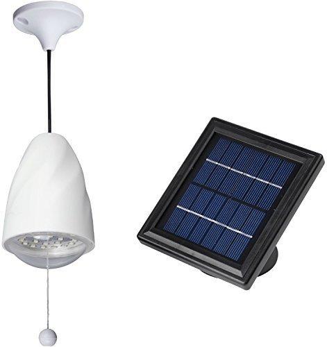 Vertiente Solar granero luz / Solar luz LED alto Lumen - 20 LED - batería de litio - MicroSolar 20: Amazon.es: Jardín