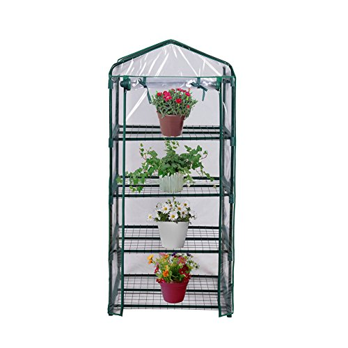 House Greenhouse - Blissun 4 Tier Mini Greenhouse, 27