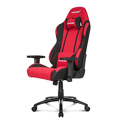 AKRacing Core Series EX Gaming Chair with High/ Wide Backrest, Recliner, Swivel, Tilt, Rocker & Seat Height Adjustment Mechanisms, 5/10 Warranty - Red/Black (Mechanism Height Adjustment)