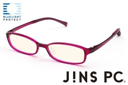 JINS PC Glasses Computer Eyewear Wine (Light Brown Lenses, Cuts blue Light by - Glasses Jins