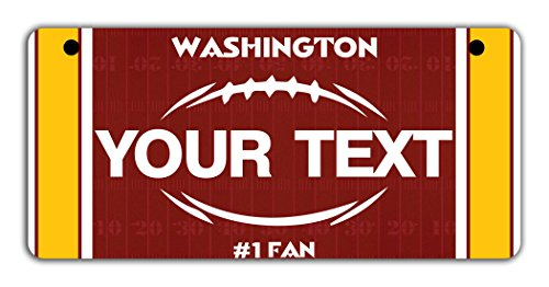 BleuReign(TM Personalized Custom Name Football Washington Motorcycle Moped Golf Cart License Plate Auto Tag