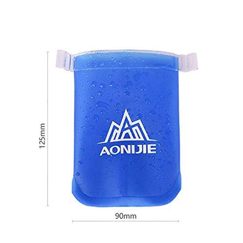 Aeroty Botella plástica de la bebida del plástico del bolso de agua plegable del deporte botella portable del deporte de 250ml / 500ml / 170ml