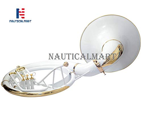 Sousaphone Bb Big Bell 25'' White With Bag by NauticalMart (Image #2)